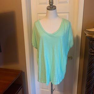 Gap tunic short sleeve neon top